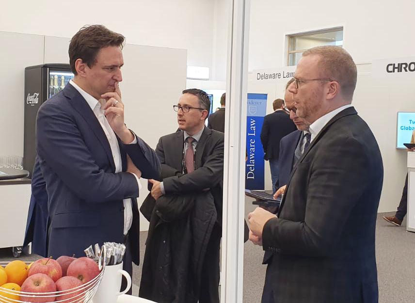 Georg Eisenreich im Gespräch mit IntraFind Vorstand Franz Kögl